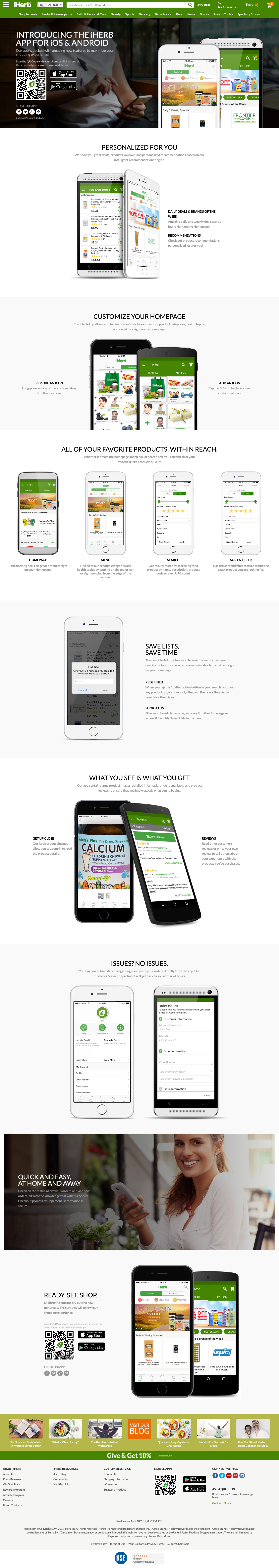 iHerb - Native Apps - Landing Page